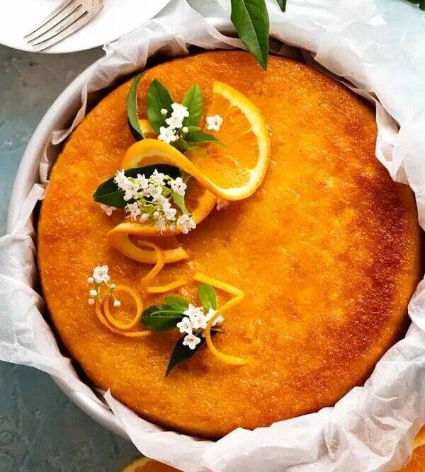 طريقة عمل كيكة البرتقال الهشة